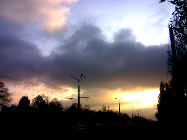 Супер переливы на небе