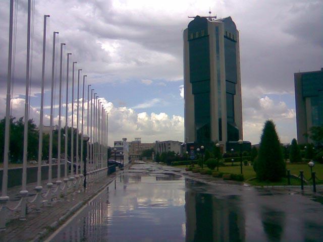 Отражение зданий