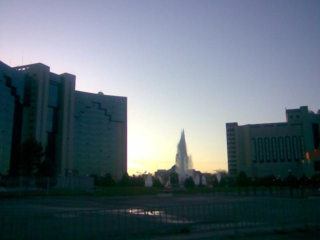 Фонтан в центре города