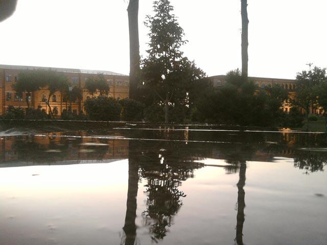 отражение на мраморе