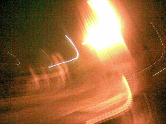 фонарь- фото в движении