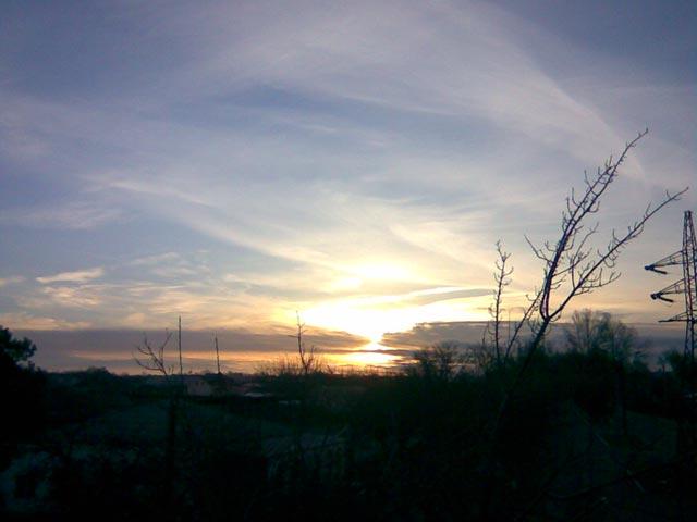 Восход солнца над горами