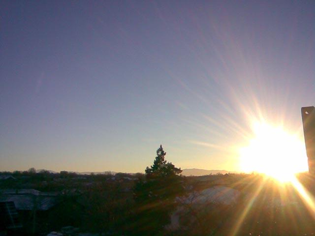 восход солнца на мосту