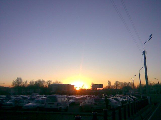 Закат по дороге домой