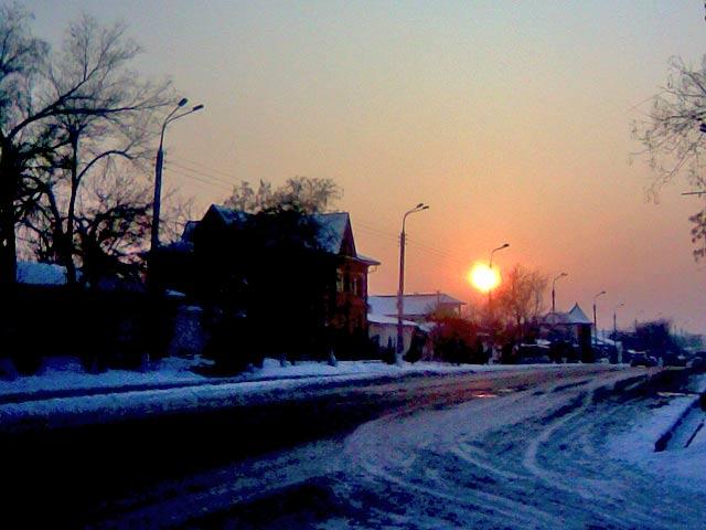 солнце закат