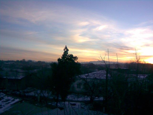 Очень красивый восход