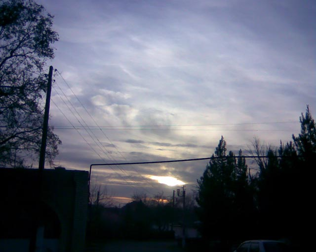 Синий закат