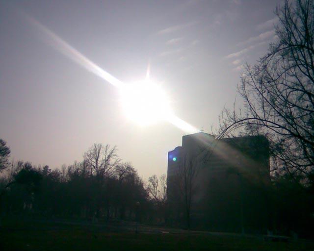 Большой диск солнца