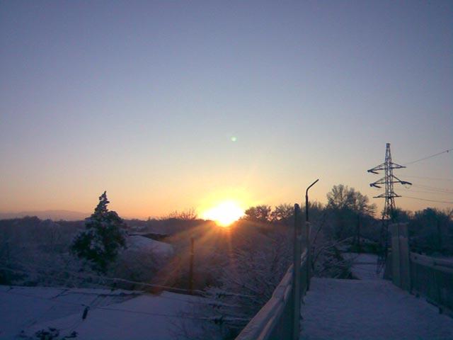 Солнце над горами