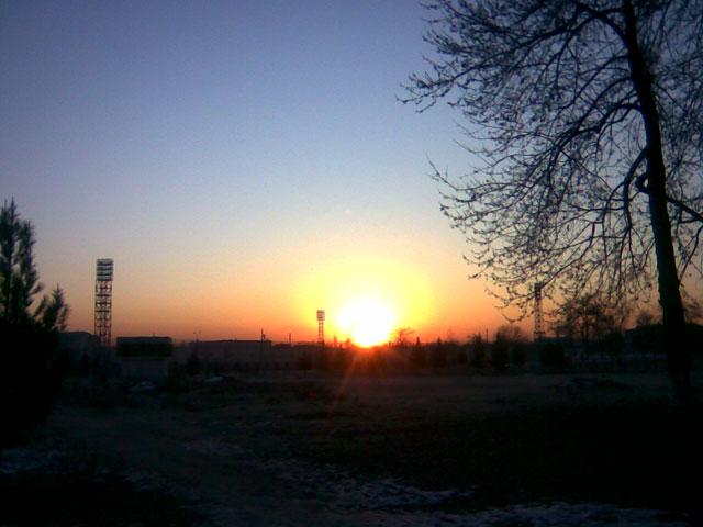 лучи восходящего солнца