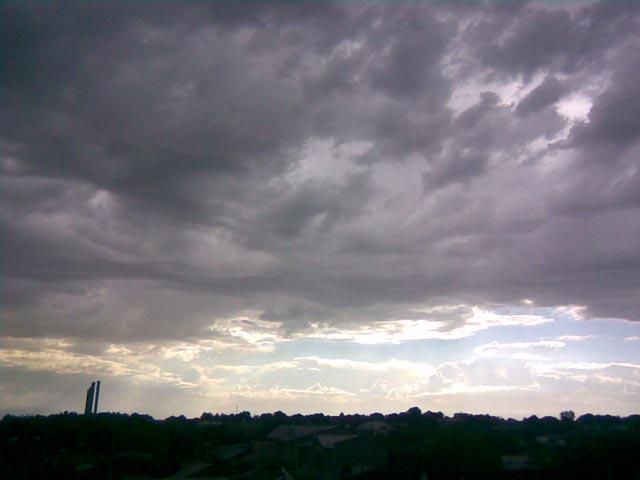 Огромные облака