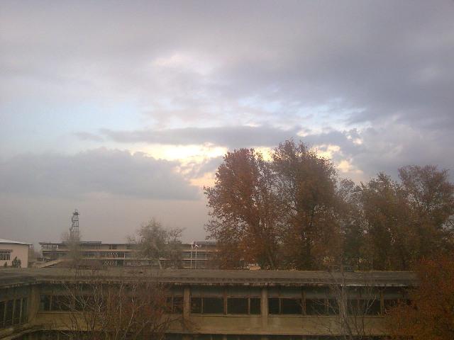 Небо из окна Университета