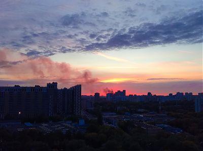 Закат в Москве
